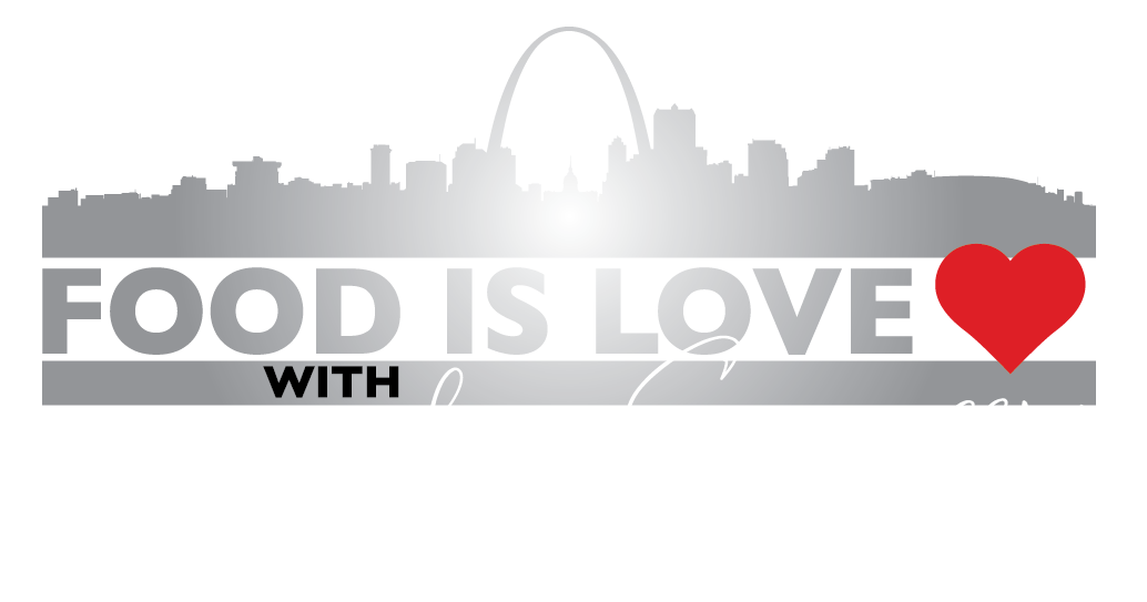 Food is Love logo - white letters